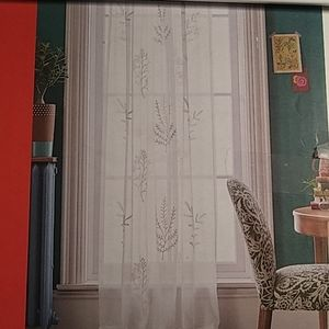 Opalhouse sheer embroidered curtain